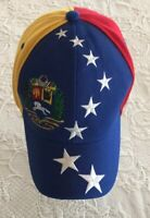 Venezuela Tricolor Flag Stars Hat Cap Embroidered Corona Label Red Yellow Blue
