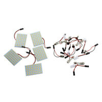 5X 48 SMD LED Warm Panel lampara luz blanca bovedal bulbo T10 + Adaptador BAM7O8
