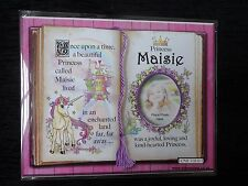 Maisie Princess Unicorn Mount Gift With Verse And Photo Space - Choose A Frame
