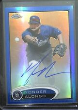 2012 Topps Chrome Blue Refractor Autograph #101 Yonder Alonso No 106 of 199