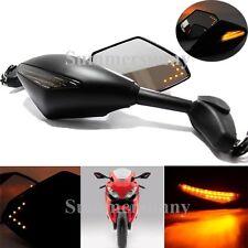 MT Black LED Side Mirrors For Kawasaki Ninja 500 636 ZX6RR ZX750 ZX7R ZX9R ZX10R