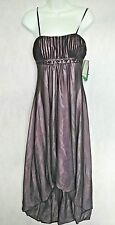 NWT Nicole Miller Platinum Special Occasions  Dress sz 6 Light Purple Black Prom