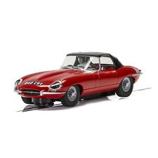 NEW Scalextric Jaguar E-Type Red 1/32 Slot Car w/Lights FREE SHIPPING
