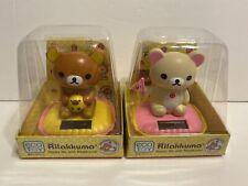 Set Of 2 Solar Dancing Rilakkuma Bear Bobble Toy USA Seller!!