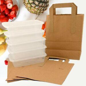 Adult Children Kids Lunch Box Kraft Bags Pack Picnic Food Storage School Dinner