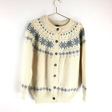 Dale of Norway Nordic Sweater Size Small Cardigan Wool Beige Womens Jacket