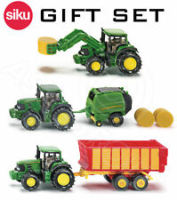 Siku 1 87 Scale John Deere Set Tractors Trailer Lo Loader Hay Bales Dicast Toys