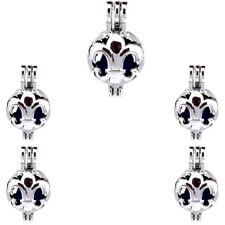 5X-K533 Fleur-de-lis France Bead Pendant Cage Locket Diffuser