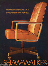 1972 Print Ad of Shaw Walker Office Furniture Profile-Arm Executive Chair
