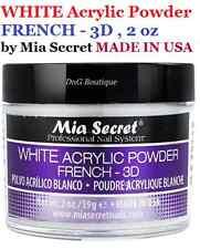 WHITE Acrylic Powder 2oz FRENCH 3D Mia Secret Professional Acrylic Nail System