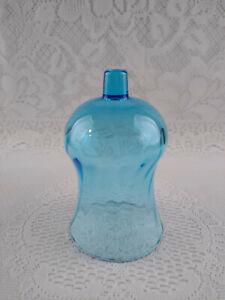 1 Vintage HOMCO Home Interior Blue Glass Swirl Sconce Peg Candle Holder Votive