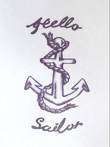1 x Hello sailor AMY WINEHOUSE Temporary Tattoo  TY0226