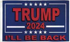 "New listing 10 x ""Trump 2024 I'Ll Be Back"" flag 3x5 ft poly"
