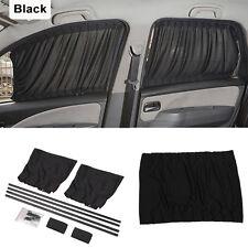 2x 50s Car Truck Window Curtain SunShade Drape Visor Valance Curtain Black Hot