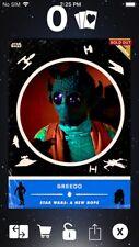 Topps Star Wars Digital Card Trader Blue ANH Retro Rewind Greedo Insert