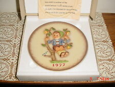 "Hummel Goebel ""1977"" Collector Plate/Box/Hum270/W Germany/Hand Painted/Free Ship"