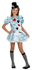 GIRLS SM 4-6 ALICE IN WONDERLAND HALLOWEEN COSTUME DRESS UP CARDS BLUE DRESS UP