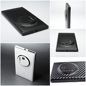 For NOKIA Lumia 1020 3D Textured CARBON Fibre Vinyl Wrap Cover Sticker Skin