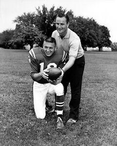 Baltimore Colts JOHNNY UNITAS & DON SHULA Glossy 8x10 Photo Football Poster