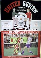 MANCHESTER UNITED v PAE ATHINAIKOS OF GREECE 91-92 EUROPEAN CUP WINNERS CUP