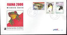 ANTILLEN 2000  FDC 314AB FAUNA PENGUIN ORCA FROG TIGER MONKEY ELEPHANT