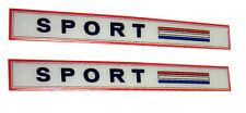 Pair Hillman Imp Sport Side Badge Inserts - Not the chrome bezel, just inserts.