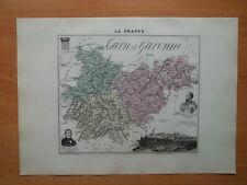 Carte ancienne de 1891 Département du Tarn et Garonne