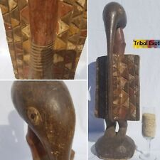 AUTHENTIC Senufo Senoufo Hornbill Figure Sculpture Statue Mask Fine African Art