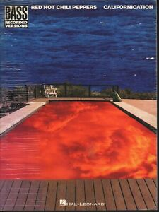 Red Hot Chili Peppers Spartito Californication 8 Bass Recored Version Nuovo
