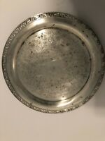 Vintage Oneida Silversmiths Silver Engraved Plate Serving Tray