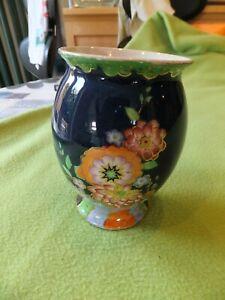 Crown Devon Pottery - Fieldings - Blue Lustre Vase 3212 344 Excellent Condition