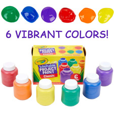 Crayola Washable Paint for Kids Toddler Finger Craft 6 Pack Paints Set Non Toxic