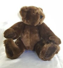 """Vermont Teddy Bear Company Jointed 16"""" Dark Chocolate Brown"""