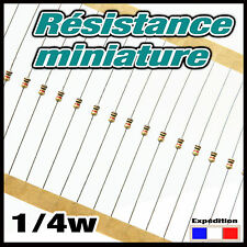 1KM# 20 à 250pcs 1 K ohms résistance miniature 1/4w - resistor 0,25w (1/8)