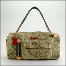RDC10500 Authentic Louis Vuitton Takashi Murakami Denim Monogramouflage Duffel