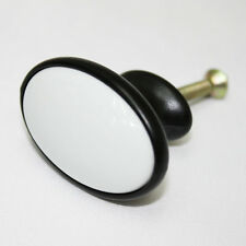 Black White Ceramic 41mm Knob Furniture Dresser Drawer Kitchen Pulls. AAE-25