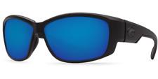 NEW COSTA DEL MAR LUKE POLARIZED SUNGLASSES BLUE MIRROR LENS WITH BLACK FRAME