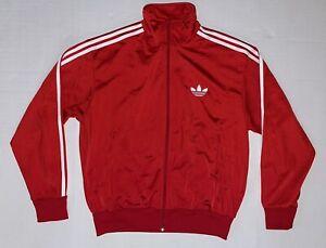 Adidas Original Three Stripe Track Jacket Firebird Red Men's Size Large