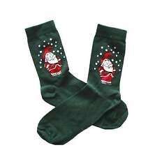 Grüne Weihnachtssocken Söckchen Socken grün Weihnachtsmann Größe 35-38 35 38 NEU