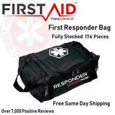 First Aid Responder Bag Trauma Kit FULLY stocked Emergency Medical EMT BAG EMS