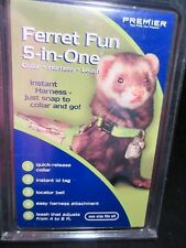 5-In-One Ferret Harness, Collar And Leash Set - Red - Premier Brand