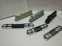 AS IS LOT Athearn tyco assorted HO SCALE  LOCOMOTIVE  underframes and casings