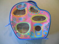 LITTLEST PET SHOP House Carrying Case Holder Blue Vinyl ZIP NOOK PLAY ROOMS BED
