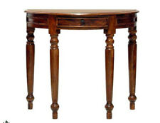 Brand New Jali Ganga  Sheesham Wood Half Round bow Console Table