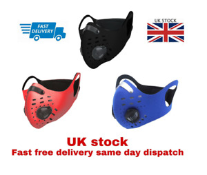 Sports Face  Mask Shield Activated Carbon Anti Pollution Cycling BikingFilter