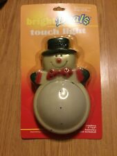 Vintage Christmas Bubble Touch Light Sealed Snowman Bright Deals