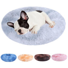 Soft Pet Bed Faux Fur Donut Cuddler for Dog Cat Joint-Relief Improved Sleep