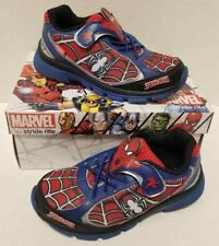 Kids Boys Stride Rite Ultimate Spiderman Size Red Blue White US 8.5M Shoes NIB