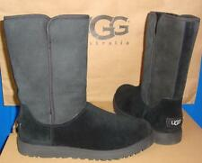 UGG MICHELLE Black Classic Slim Suede Boots Women's Size US 6,EU 37 NEW #1013462