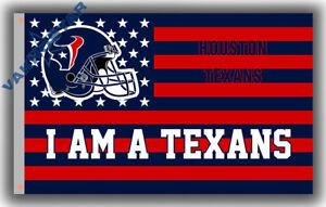 Houston Texans I AM A TEXANS Football Memorable flag 90x150cm 3x5ft best banner